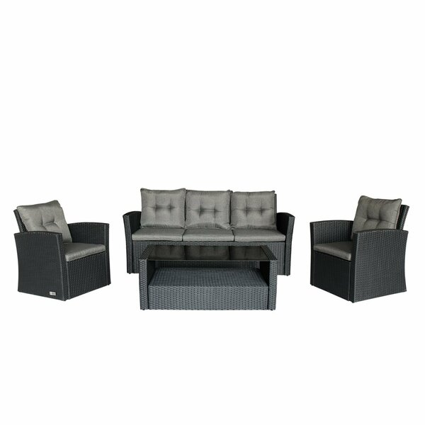 Bridgette Outdoor Complete 4 Piece Sofa Seating Group by Andover Mills