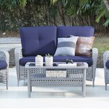 Edwards 2 Piece Rattan Sofa Seating Group with Cushions by Highland Dunes