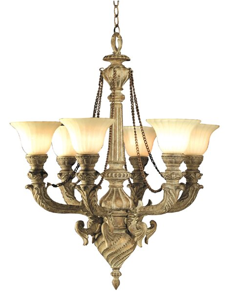 6-Light Shaded Classic / Traditional Chandelier by JB Hirsch Home Decor JB Hirsch Home Decor
