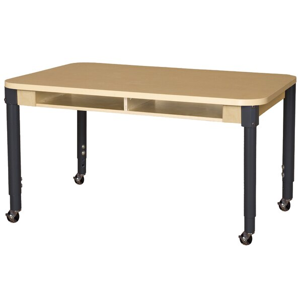 Manufactured Wood Adjustable Height Multi-Student Desk by Wood Designs