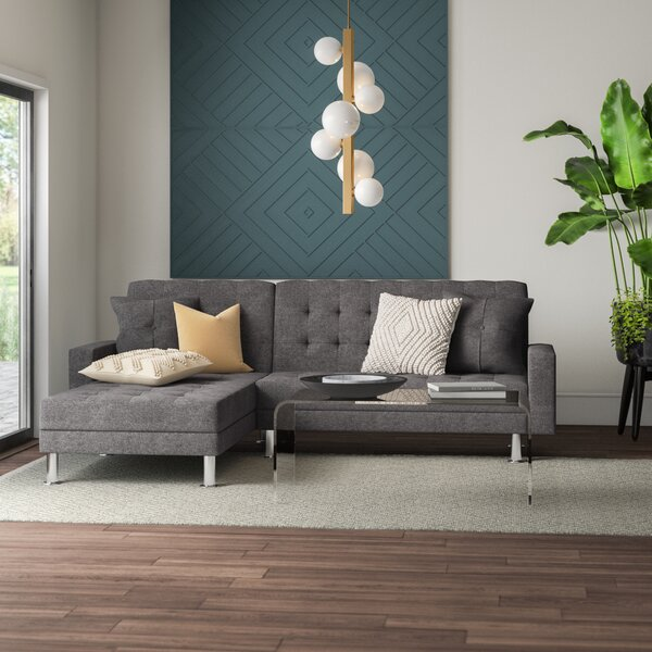 Nuttall Reversible Sleeper Sectional by Mercury Row