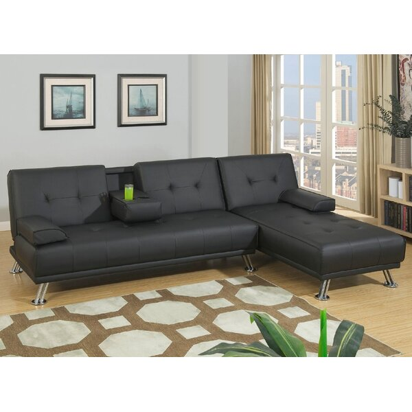 Booneville Reversible Sleeper Sectional By Ebern Designs
