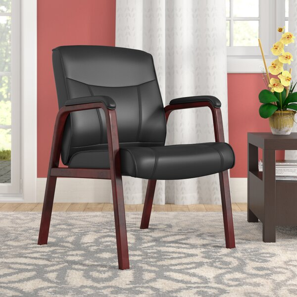 Landmark Leather Guest Chair by Andover Mills