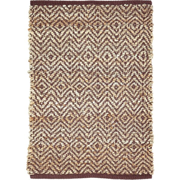 Lulie Hand-Woven Brown/Beige Area Rug by Bungalow Rose