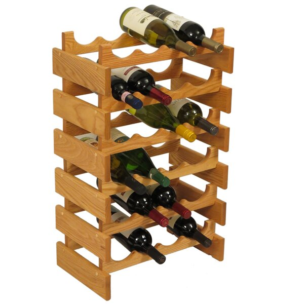 Dakota 24 Bottle Floor Wine Rack by Wooden Mallet