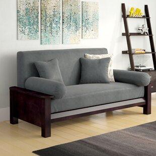 Simoes Solid Box Cushion Futon Slipcover