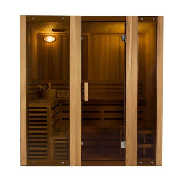 Person Corner 6 Person FAR Infrared Sauna by ALEKO