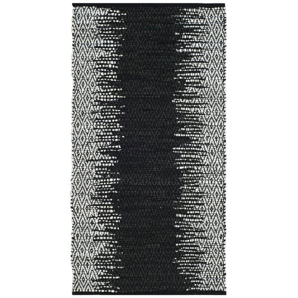 Makenna Hand-Woven Light Grey/Black Area Rug by Mistana