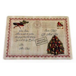 Letter to Santa Holiday Placemat (Set of 4)