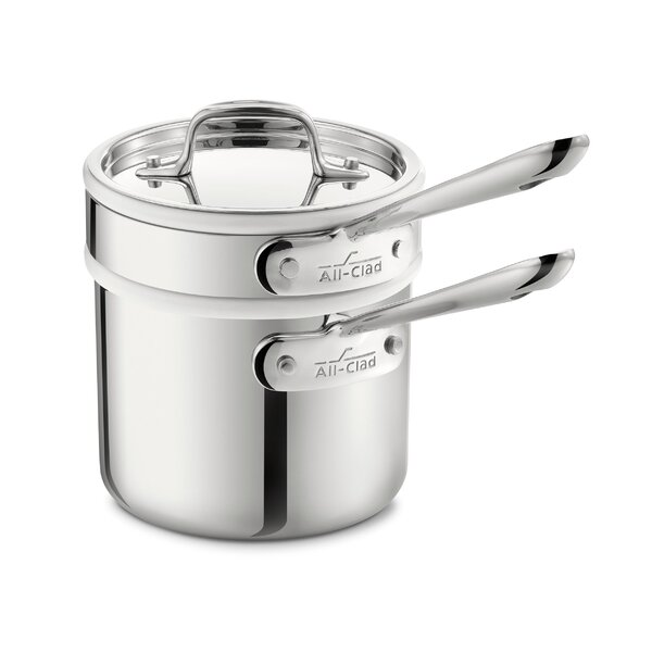 D3 2-qt. Stainless Steel Double Boiler Set with Lid by All-Clad