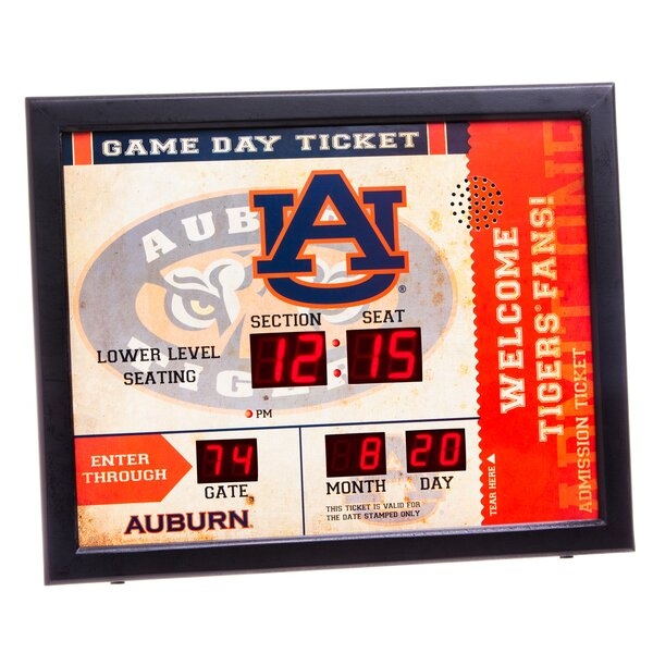 NCAA Bluetooth Scoreboard Wall Clock by Evergreen