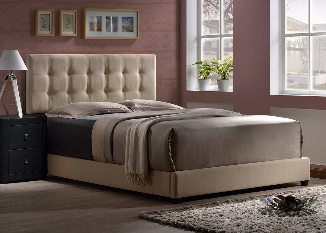 Wrought Studio Vandalia Upholstered Panel Bed & Reviews