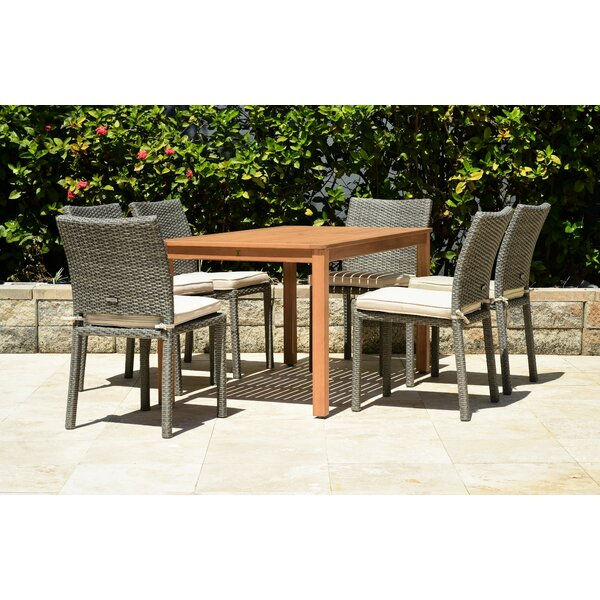 Cyr 7 Piece Dining Set with Cushions (Set of 7) by Charlton Home