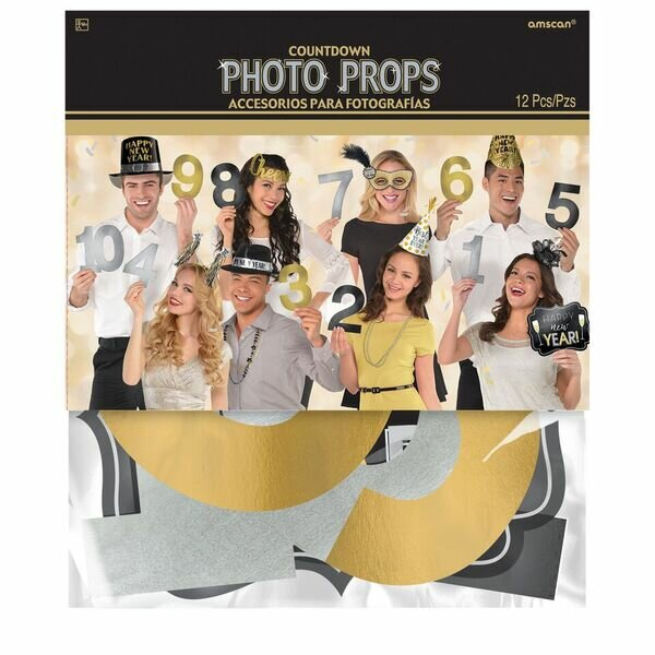 New Year's Countdown Photo Prop by Amscan