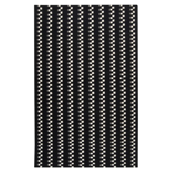 Donley Black Area Rug by Wrought Studio