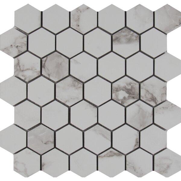 Statuario 2 x 2 Porcelain Mosaic Tile