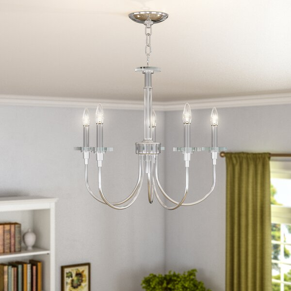 Symonds 5 - Light Candle Style Classic/Traditional Chandelier With Crystal Accents By Alcott Hill