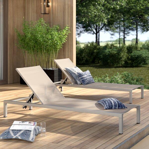 Mirando Reclining Chaise Lounge (Set of 2)