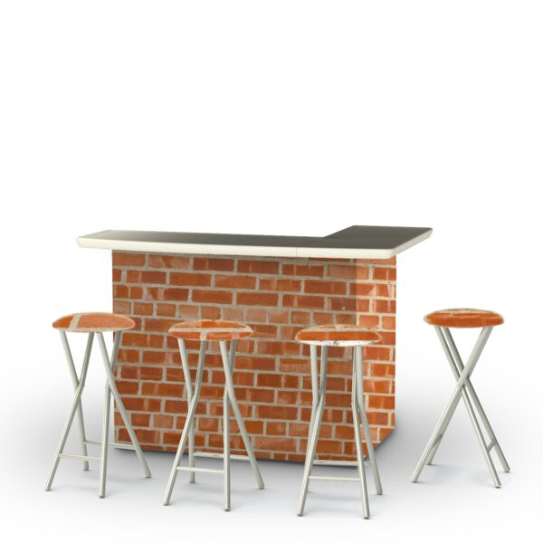 Boston Brick 5-Piece Bar Set By Best Of Times by Best of Times Wonderful