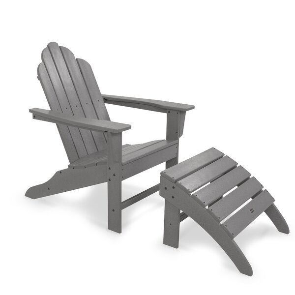 Long Island Plastic Adirondack Chair with Ottoman by POLYWOOD POLYWOOD®