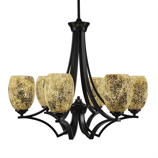 Couto 6 - Light Shaded Classic / Traditional Chandelier By Red Barrel Studio