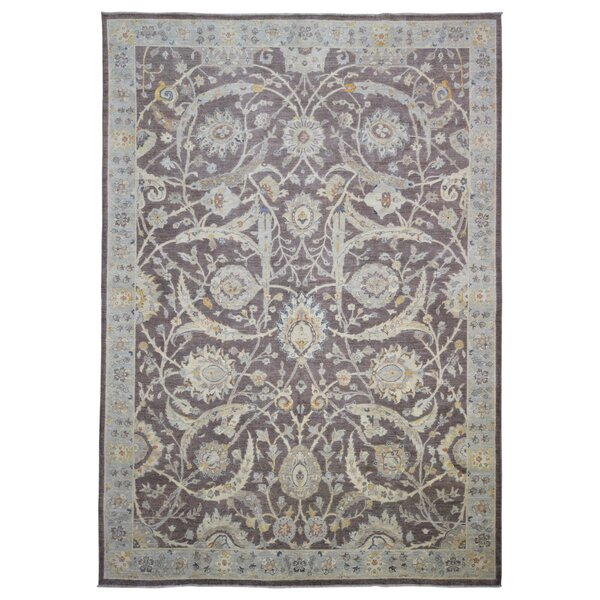 Baron Hand Woven Wool Brown/Light Blue Area Rug by Isabelline