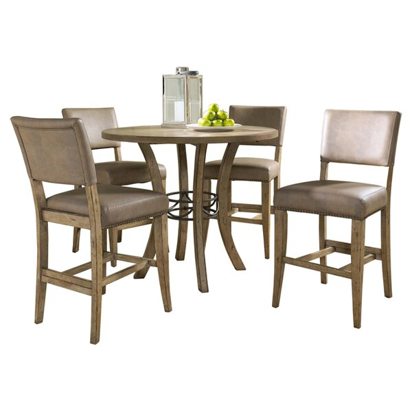 Rude 5 Piece Round Counter Height Dining Set by Alcott Hill