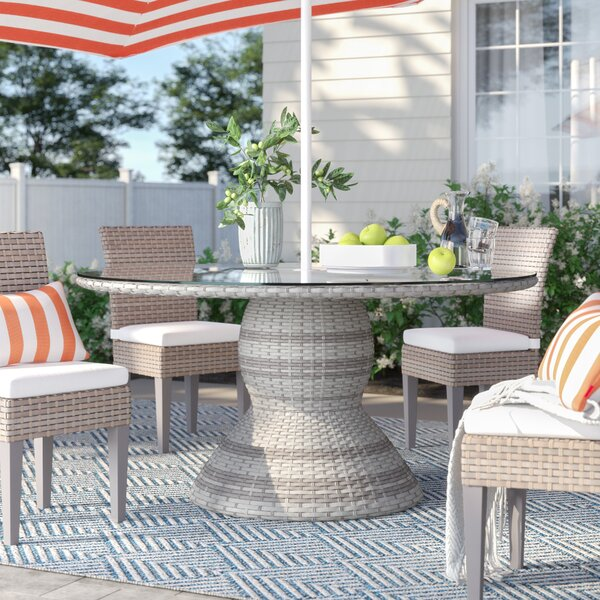 Falmouth Glass Dining Table by Sol 72 Outdoor