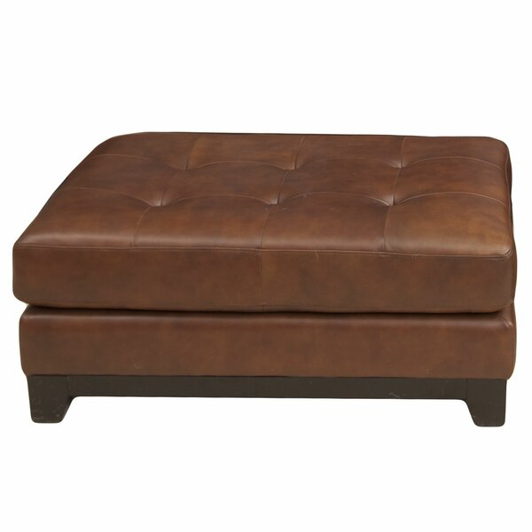 Jeanine Leather Cocktail Ottoman By Darby Home Co