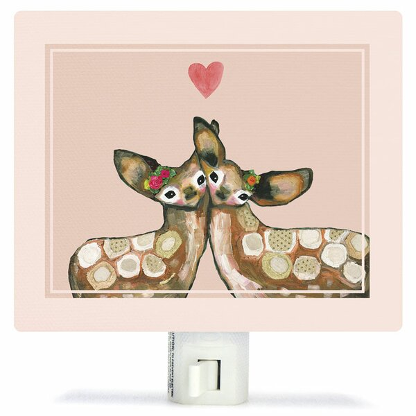 Fawn Love by Eli Halpin Canvas Night Light by Oopsy Daisy