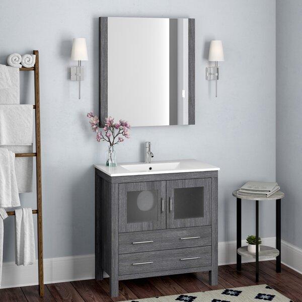Cartagena 32 Single Bathroom Vanity Set with Mirror by Mercury Row