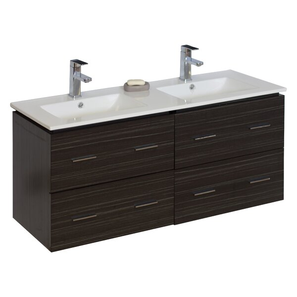 Modern 46 Double Vanity Base Only