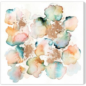 Rose Gold Garden Painting Print on Wrapped Canvas by Wade Logan