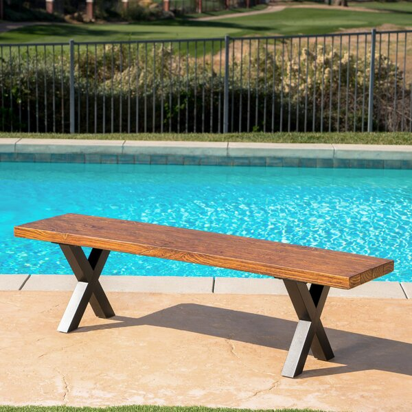 La Mott Light Weight Concrete Picnic Bench by Gracie Oaks