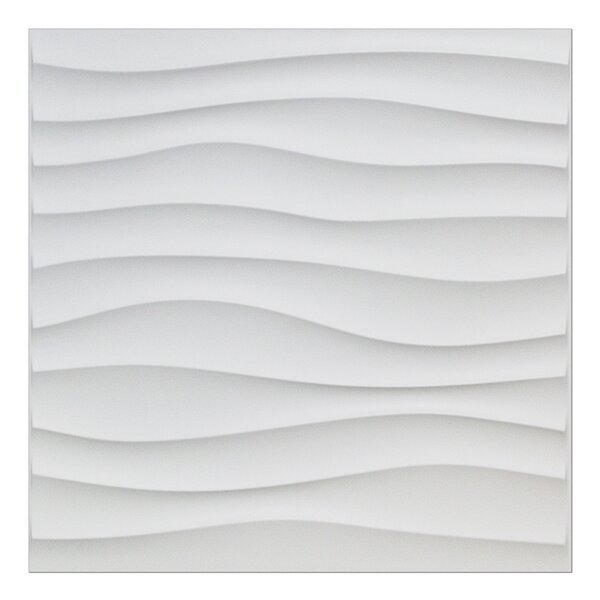 Yacoubou Plastic Wave 19.7 L X 19.7 W 3d Embossed Wallpaper Panel By Orren Ellis.