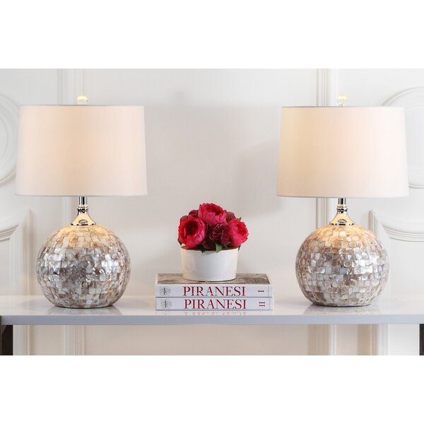 Nikki Shell 21.5 Table Lamp (Set of 2) by Safavieh