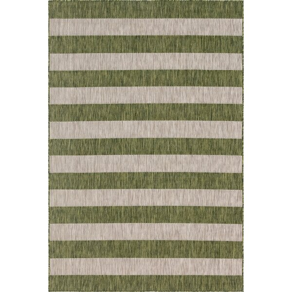 Hood Green/Beige Indoor/Outdoor Area Rug by Breakwater Bay