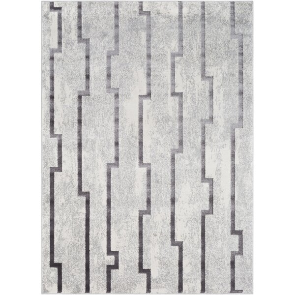 Salazar Transitional Gray Area Rug by Mercer41