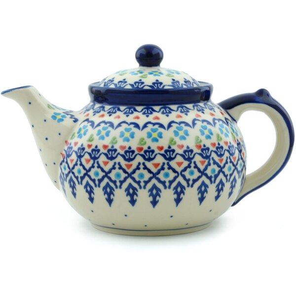 Graphic Armor Polish Pottery 1.63 qt. Stoneware Teapot by Polmedia