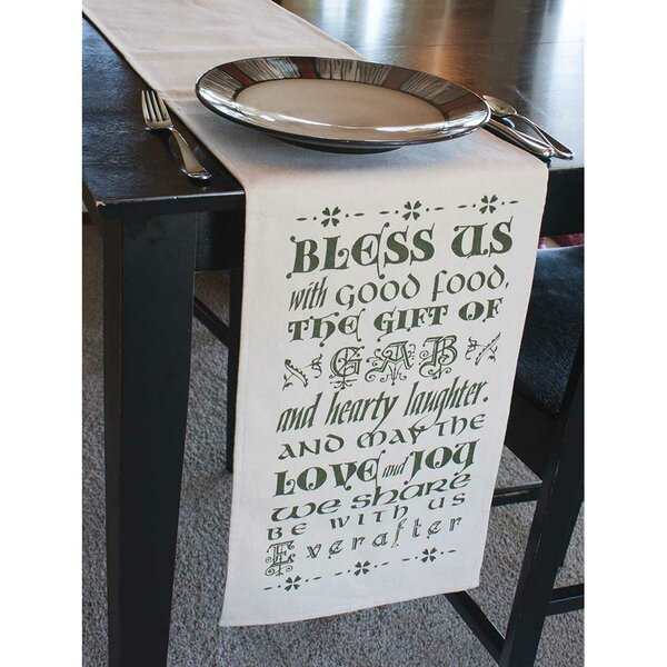 Bless Us Table Runner by Jozie B