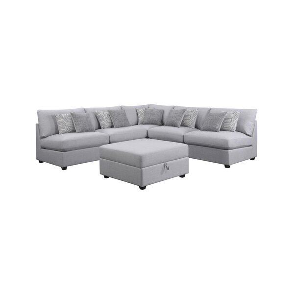Massimo Modular Sectional with Ottoman by Ebern Designs