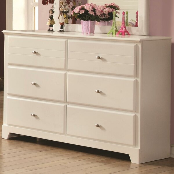 Kinney 6 Drawer Double Dresser by Alcott Hill
