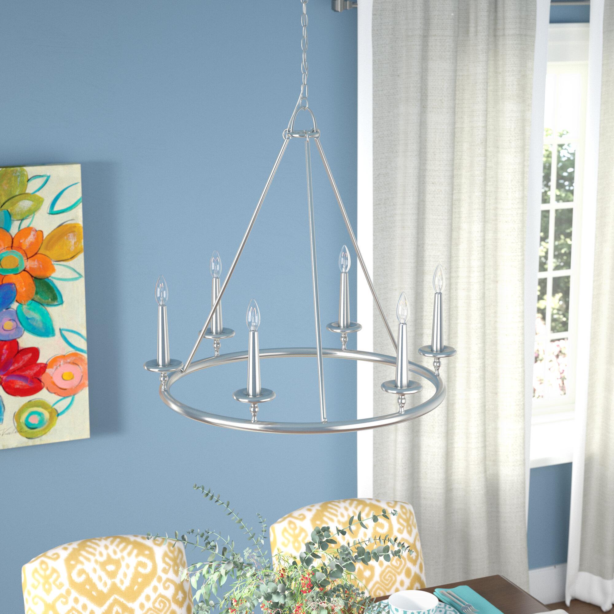 Latitude Run Chamberlain 6 Light Candle Style Chandelier & Reviews