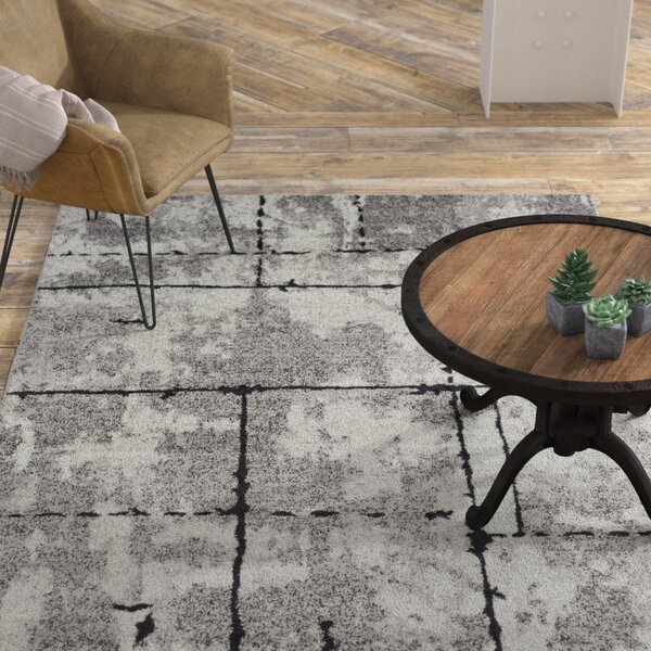 Cateline Distressed Taupe/Charcoal Area Rug by Williston Forge