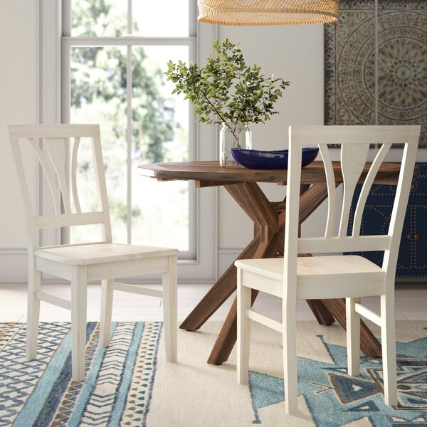 Lynn Fanback Solid Wood Dining Chair (Set of 2) by Mistana