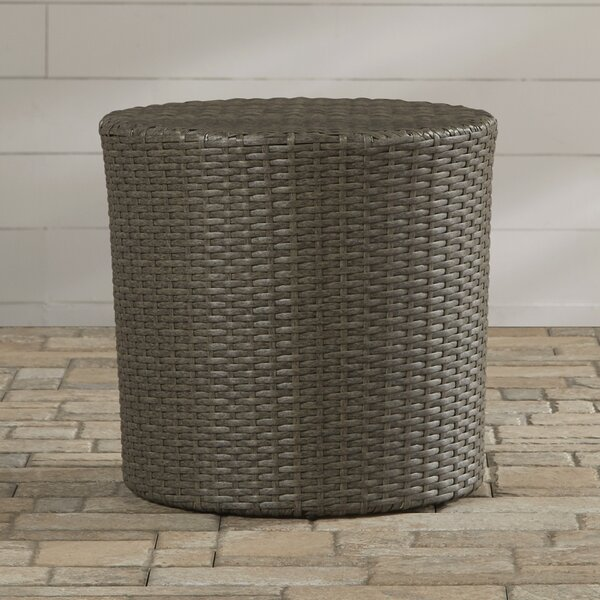 Mazzella Bluestar Barrel Wicker Side Table by Mercury Row