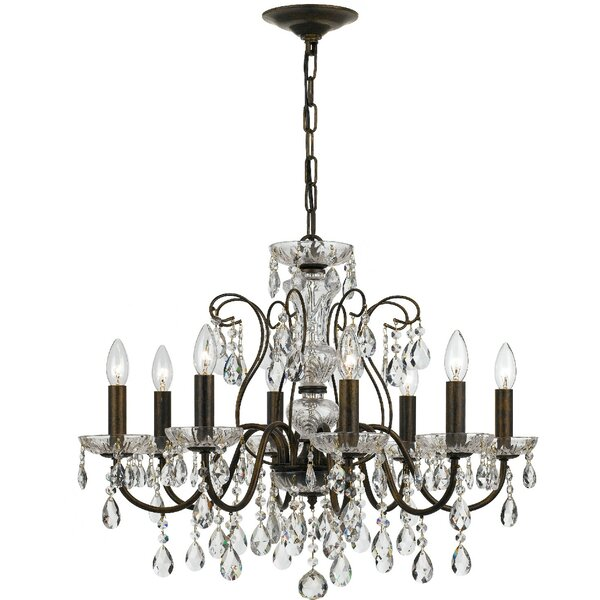 Sanabria 8 - Light Unique/Statement Empire Chandelier With Wrought Iron Accents By House Of Hampton