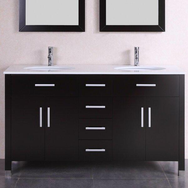 "60"" Double Modern Bathroom Vanity Set by Belvedere Bath"