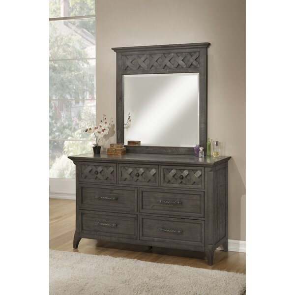 Mendocino 7 Drawer Double Dresser with Mirror by Breakwater Bay