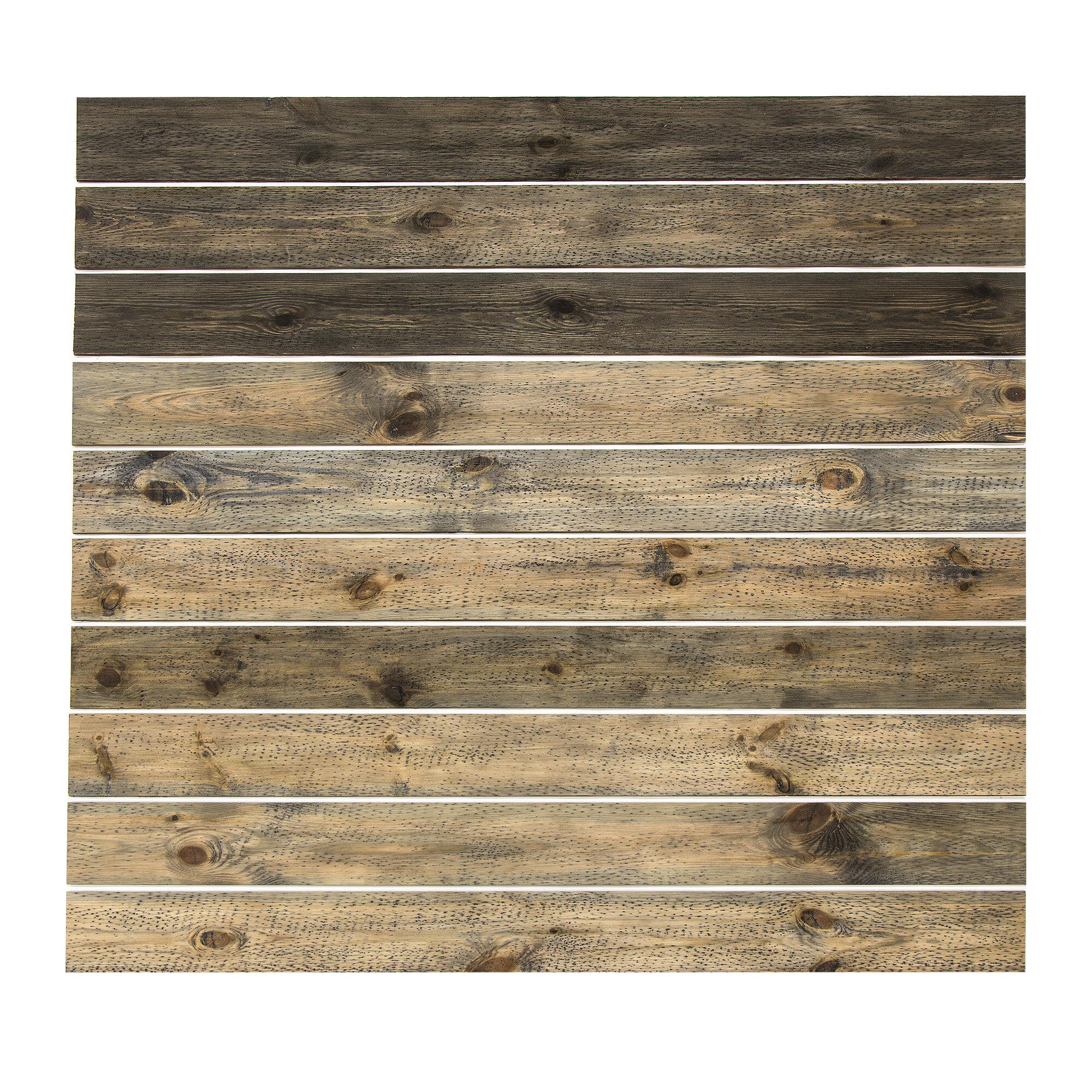 Rusticgrove 4 5 X 45 Reclaimed Solid Wood Wall Paneling Reviews Wayfair